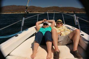 fishing boat relaxing