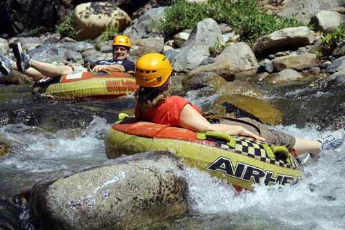 tube the river rapids