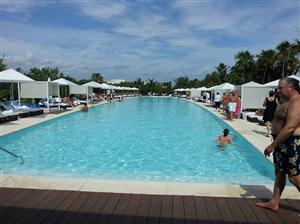 The Grand Luxxe pool area on the Riviera Maya resort