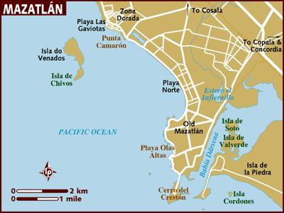 Mazatlan Mayan Palace Maps - Getting There