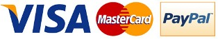 Visa MasterCard Paypal Payments accepted